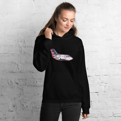 airplaneTees CRJ Cartoon Hoodie - Unisex 4
