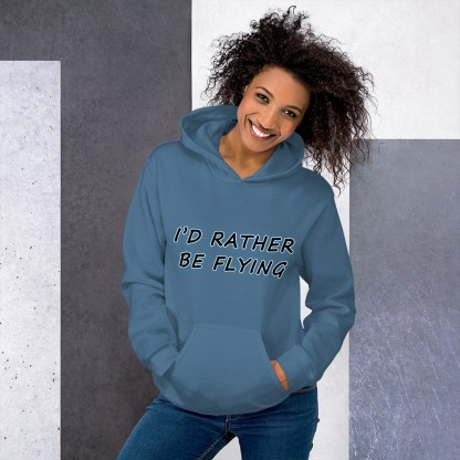 airplaneTees Id rather be flying Hoodie - Unisex 3