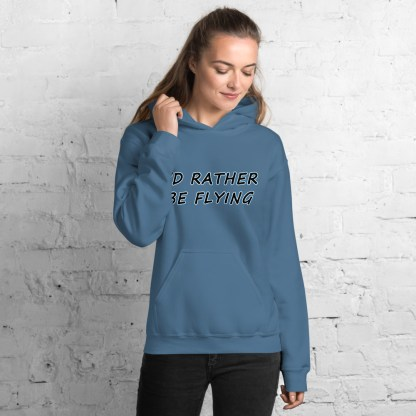 airplaneTees Id rather be flying Hoodie - Unisex 4