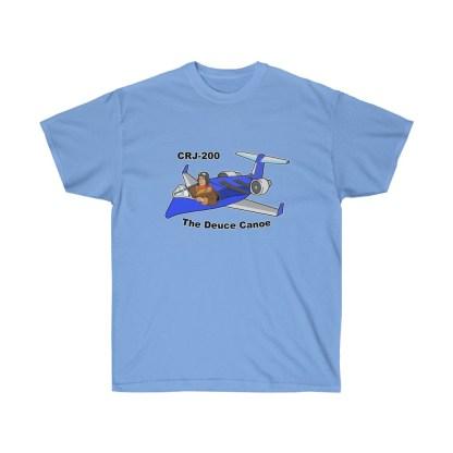 airplaneTees Deuce Canoe Tee - CRJ200 - Unisex Ultra Cotton 8