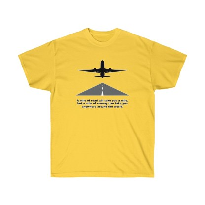 airplaneTees Mile of runway tee - Unisex Ultra Cotton 6