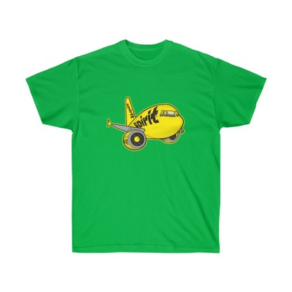 airplaneTees Spirit Airlines Airbus Tee - Unisex Ultra Cotton A321 5