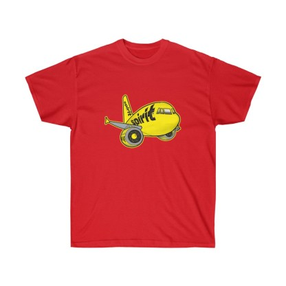 airplaneTees Spirit Airlines Airbus Tee - Unisex Ultra Cotton A321 8