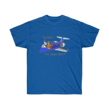 airplaneTees Deuce Canoe Tee - CRJ200 - Unisex Ultra Cotton 9