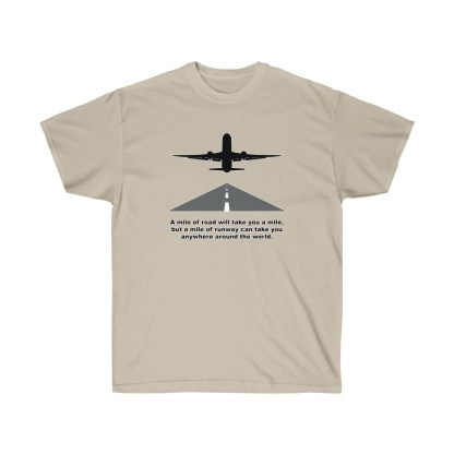 airplaneTees Mile of runway tee - Unisex Ultra Cotton 3