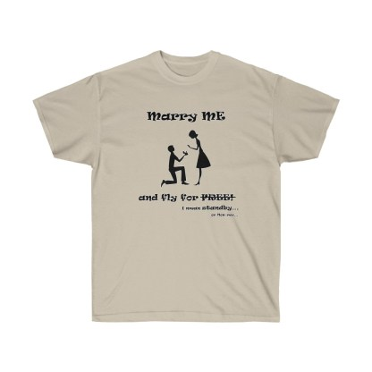 airplaneTees Marry me and fly for free tee - Unisex Ultra Cotton 4