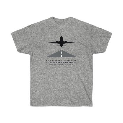 airplaneTees Mile of runway tee - Unisex Ultra Cotton 4