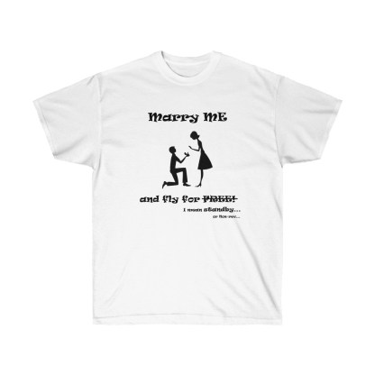 airplaneTees Marry me and fly for free tee - Unisex Ultra Cotton 2