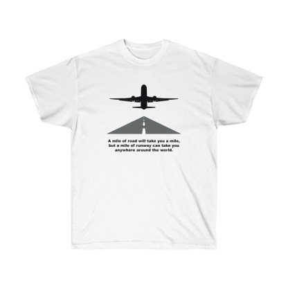 airplaneTees Mile of runway tee - Unisex Ultra Cotton 2
