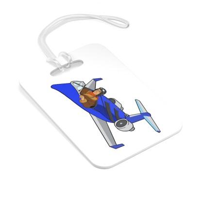 airplaneTees CRJ200 Deuce Canoe Bag Tag 1
