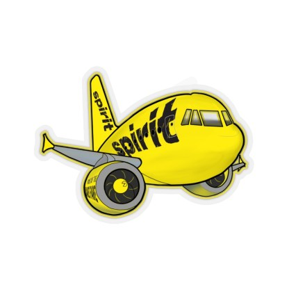 airplaneTees Spirit Airlines Airbus Stickers - Kiss-Cut A321 7