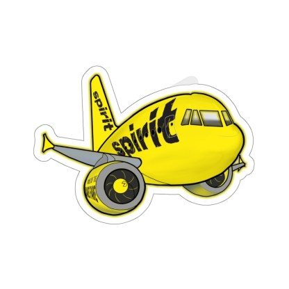 airplaneTees Spirit Airlines Airbus Stickers - Kiss-Cut A321 15