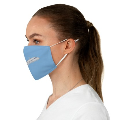 airplaneTees CRJ Face Mask - Flying, Fabric 3