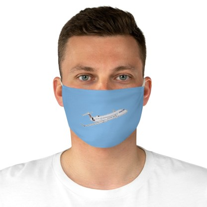 airplaneTees CRJ Face Mask - Flying, Fabric 4
