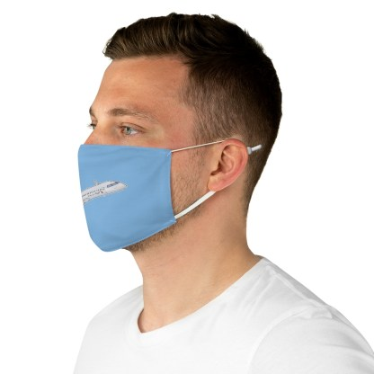 airplaneTees CRJ Face Mask - Flying, Fabric 5