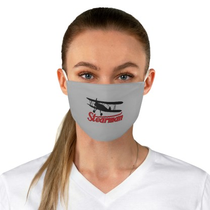 airplaneTees Stearman Face Mask - Logo, Fabric 3