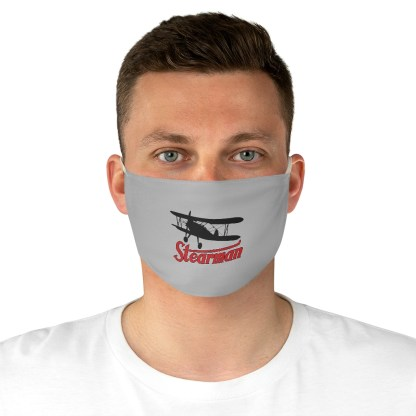 airplaneTees Stearman Face Mask - Logo, Fabric 5