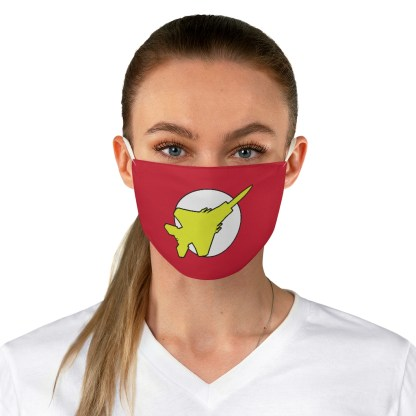 airplaneTees Super Fighter Pilot Face Mask - Fabric 3
