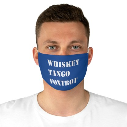 airplaneTees WTF Whiskey Tango Foxtrot Face Mask - Fabric 5