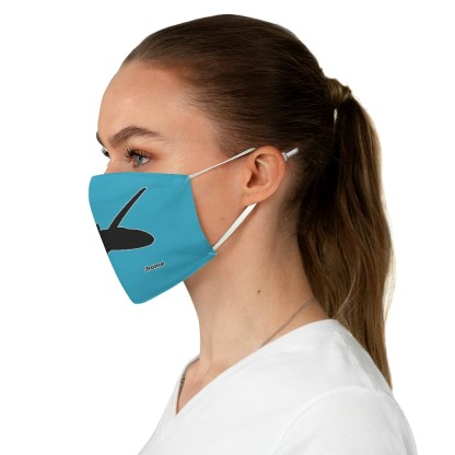 airplaneTees Corporate Jets are home Face Mask - Fabric 1