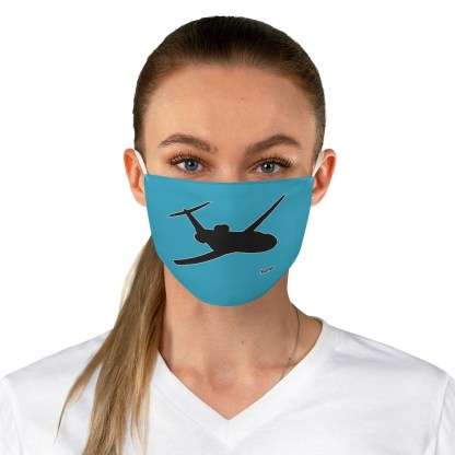 airplaneTees Corporate Jets are home Face Mask - Fabric 3