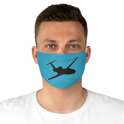 airplaneTees Corporate Jets are home Face Mask - Fabric 4