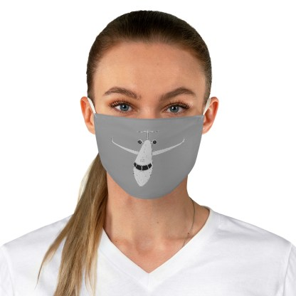airplaneTees CRJ Face Mask - Line drawing, Fabric 3