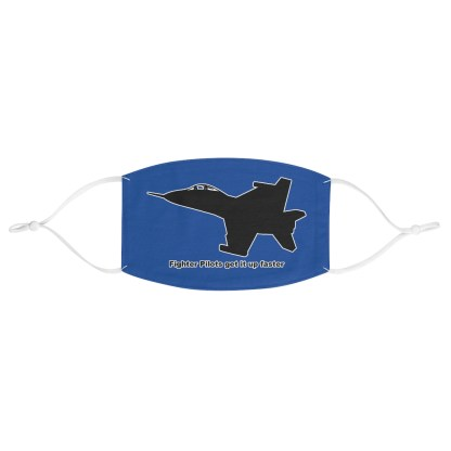 airplaneTees Fighter pilots get it up faster Face Mask - Fabric 2