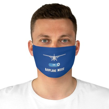 airplaneTees Airplane Mode Face Mask - Fabric 4