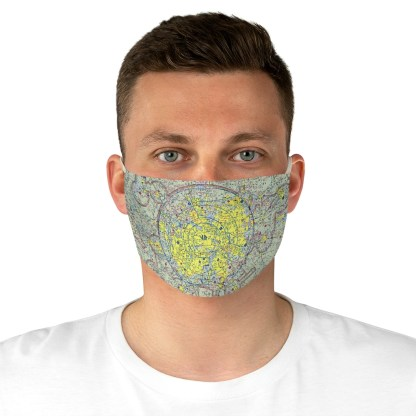 airplaneTees Dallas/Ft. Worth DFW VFR Sectional Face Mask - Fabric 4