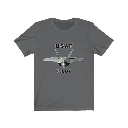 airplaneTees USAF Pilot Tee F22 - Unisex Jersey Short Sleeve Tee 1