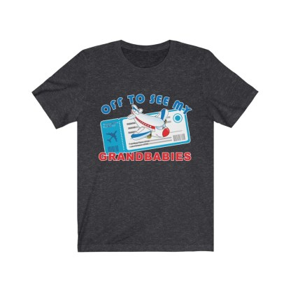 airplaneTees Off to see my Grandbabies tee - Unisex Jersey Short Sleeve Tee 13
