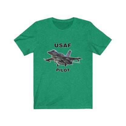 airplaneTees USAF Pilot Tee F16 - Unisex Jersey Short Sleeve Tee 7