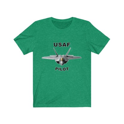 airplaneTees USAF Pilot Tee F22 - Unisex Jersey Short Sleeve Tee 8