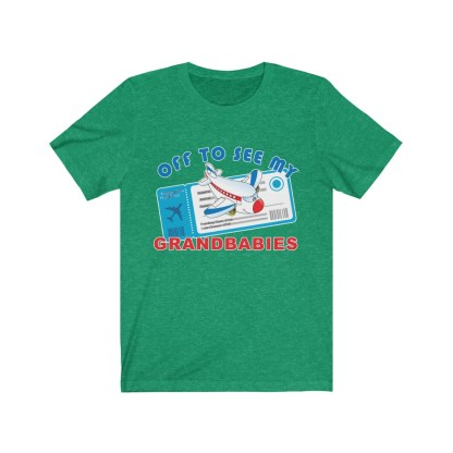 airplaneTees Off to see my Grandbabies tee - Unisex Jersey Short Sleeve Tee 7
