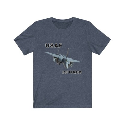 airplaneTees USAF Retired Tee F15 - Unisex Jersey Short Sleeve Tee 1