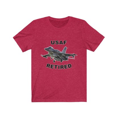 airplaneTees USAF Retired Tee F16 - Unisex Jersey Short Sleeve Tee 1