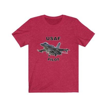 airplaneTees USAF Pilot Tee F16 - Unisex Jersey Short Sleeve Tee 14