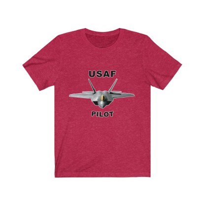 airplaneTees USAF Pilot Tee F22 - Unisex Jersey Short Sleeve Tee 14