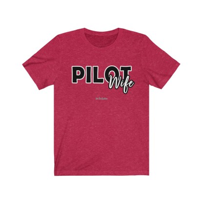 airplaneTees The Real Captain - Pilot Wife - Unisex Jersey Short Sleeve Tee 1