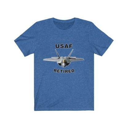 airplaneTees USAF Retired Tee F22 - Unisex Jersey Short Sleeve Tee 9