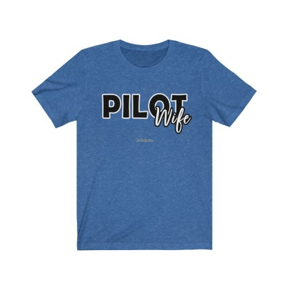 airplaneTees The Real Captain - Pilot Wife - Unisex Jersey Short Sleeve Tee 8