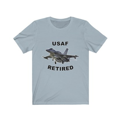 airplaneTees USAF Retired Tee F16 - Unisex Jersey Short Sleeve Tee 9
