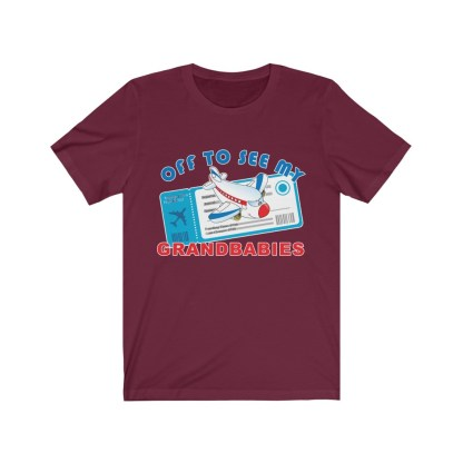 airplaneTees Off to see my Grandbabies tee - Unisex Jersey Short Sleeve Tee 15