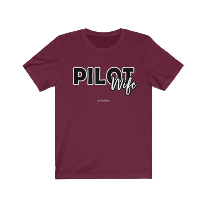 airplaneTees The Real Captain - Pilot Wife - Unisex Jersey Short Sleeve Tee 12