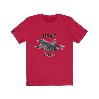airplaneTees USAF Pilot Tee F16 - Unisex Jersey Short Sleeve Tee 15