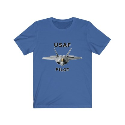airplaneTees USAF Pilot Tee F22 - Unisex Jersey Short Sleeve Tee 10