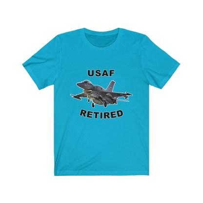 airplaneTees USAF Retired Tee F16 - Unisex Jersey Short Sleeve Tee 8