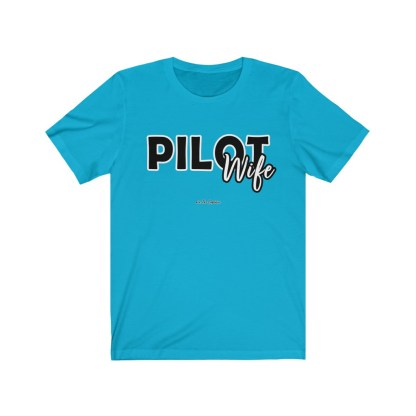 airplaneTees The Real Captain - Pilot Wife - Unisex Jersey Short Sleeve Tee 6