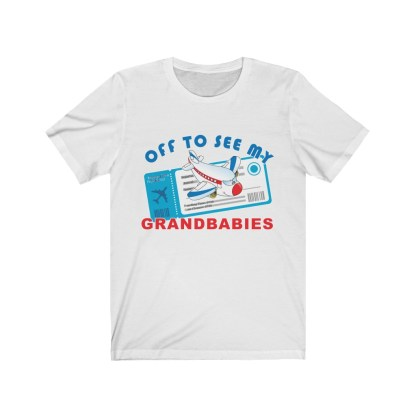 airplaneTees Off to see my Grandbabies tee - Unisex Jersey Short Sleeve Tee 2